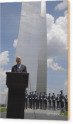 Secretary Of The Air Force Salutes Wood Print by Stocktrek Images