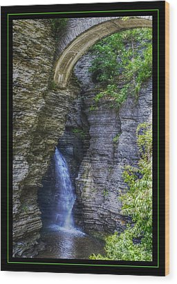 Secrets Of Watkin's Glen Wood Print by Matthew Green