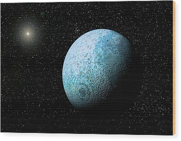 Sedna, Kuiper Belt Object Wood Print by Christian Darkin