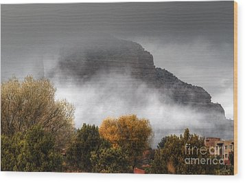 Wood Print featuring the photograph Sedona Fog by Tam Ryan
