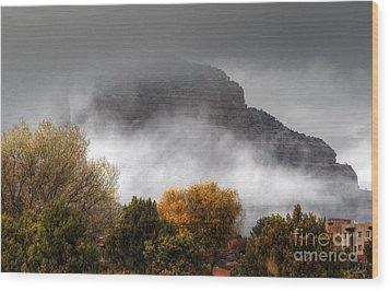 Sedona Fog Wood Print