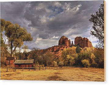Sedona Wood Print by Marvin Walley