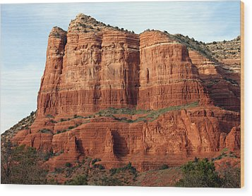Wood Print featuring the photograph Sedona Red by Debbie Hart