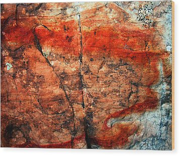 Sedona Red Rock Abstract 2 Wood Print