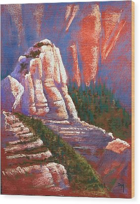 Sedona Rock Wood Print by Drusilla Montemayor