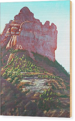Sedona Shadows Wood Print by Drusilla Montemayor