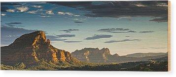 Sedona Sunset Wood Print by Scott Faunce