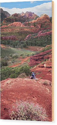 Sedona Vortex Wood Print by Ric Soulen