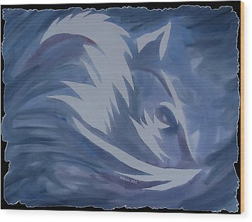 Seduction In Blue Wood Print by Mark Schutter