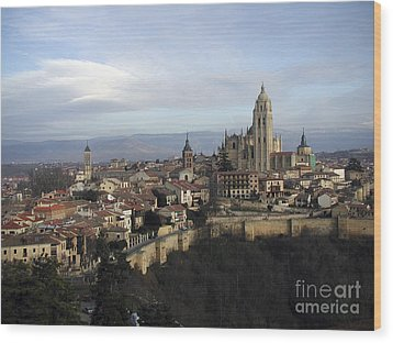 Wood Print featuring the photograph Segovia by Leslie Hunziker
