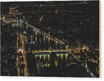 Seine River Atop The Eiffel Tower Wood Print