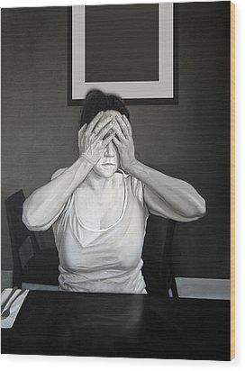Self - Censure Wood Print by Michael Harris