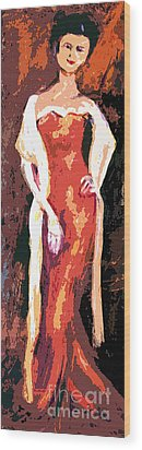 Self Portrait - Going Out Wood Print by Ginette Callaway