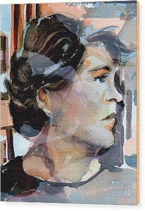 Self Portrait 2002 Wood Print by Mindy Newman
