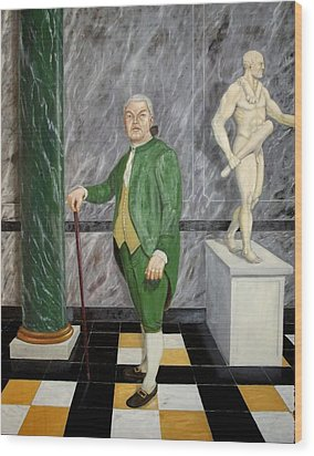 Self Portrait As A French Republican Wood Print by Howard Bosler