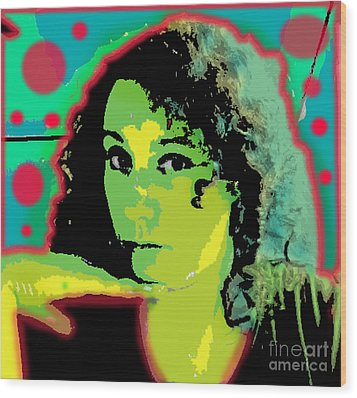 Self Portrait Pop Art Wood Print