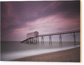 Selsey Lifeboat Station Wood Print by Nina Papiorek