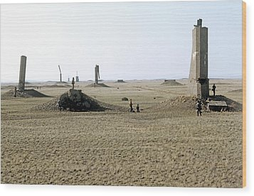 Semipalatinsk Nuclear Test Site Wood Print by Ria Novosti