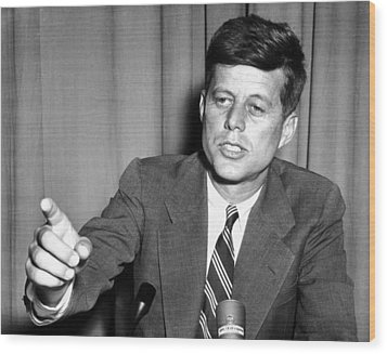 Sen. John Kennedy After Making Wood Print by Everett