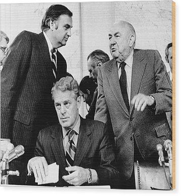 Senate Watergate Committee. Members Wood Print by Everett