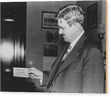 Senator Clarence C. Dill Of Washington Wood Print by Everett