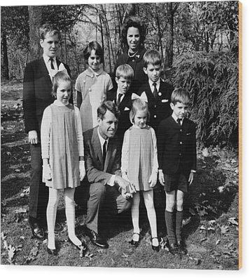 Senator-elect Robert Kennedy And Wife Wood Print by Everett