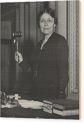 Senator Hattie W. Caraway, Democrat Wood Print by Everett