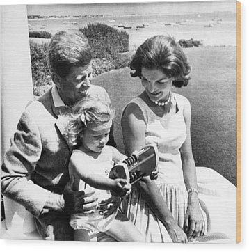 Senator John F. Kennedy, Caroline Wood Print by Everett
