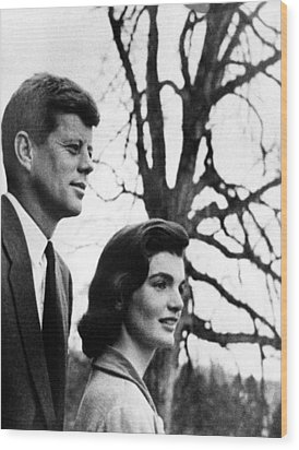 Senator John F. Kennedy, Jackie Wood Print by Everett