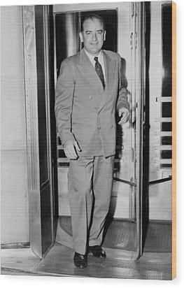 Senator Joseph Mccarthy, Leaving Wood Print by Everett