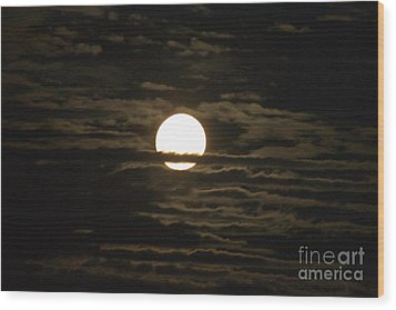 Wood Print featuring the photograph Seneca Lake Moon by William Norton