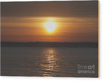 Wood Print featuring the photograph Seneca Lake Sunrise by William Norton