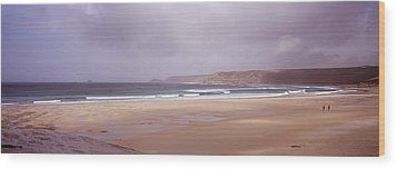 Sennen Cove Beach At Sunset Wood Print by Axiom Photographic