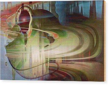 Sensing The Spheres Wood Print by Linda Sannuti