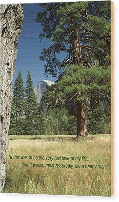 Sentimental Poster Wood Print