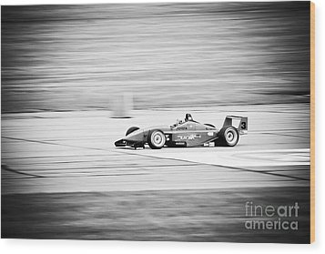 Sepia Racing Wood Print by Darcy Michaelchuk