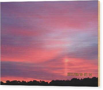 September 16 Sunrise Six Wood Print by Tina M Wenger