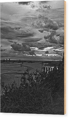 Wood Print featuring the photograph September Clouds by Randall  Cogle