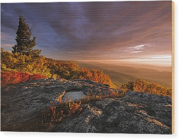 September Dawn Wood Print by Joseph Rossbach