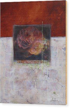 September Rose Wood Print by Ann Powell