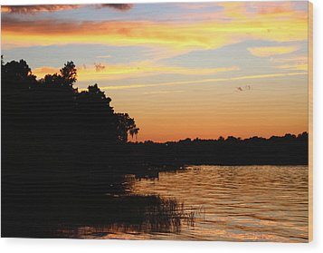 September Sky 12 Wood Print by Mike Wilber