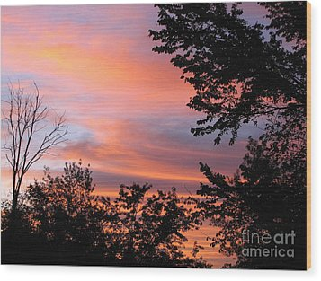 September Sunrise 3 Wood Print by Cedric Hampton