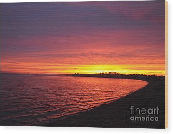Wood Print featuring the photograph September Sunset by Cindy Lee Longhini