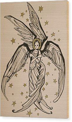 Seraphim Wood Print by Jackie Rock