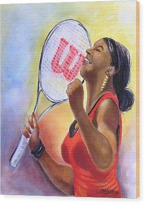 Serena Shines Wood Print