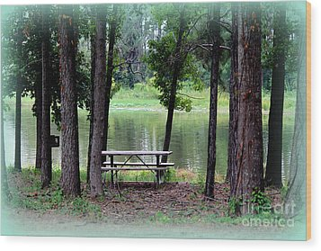 Wood Print featuring the photograph Serene Escape by Kathy  White