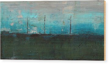Wood Print featuring the painting Serene by Kathy Sheeran