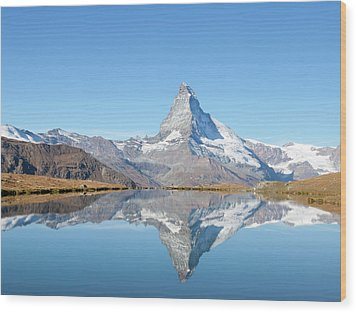 Serene Matterhorn Wood Print by Monica and Michael Sweet