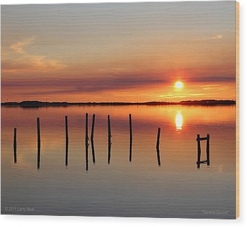 Serene Sound Wood Print