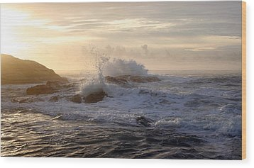Wood Print featuring the photograph Serene Sunset  by Michael Rock